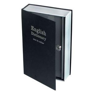 Mini coffre fort en m�tal forme dictionnaire Invotis