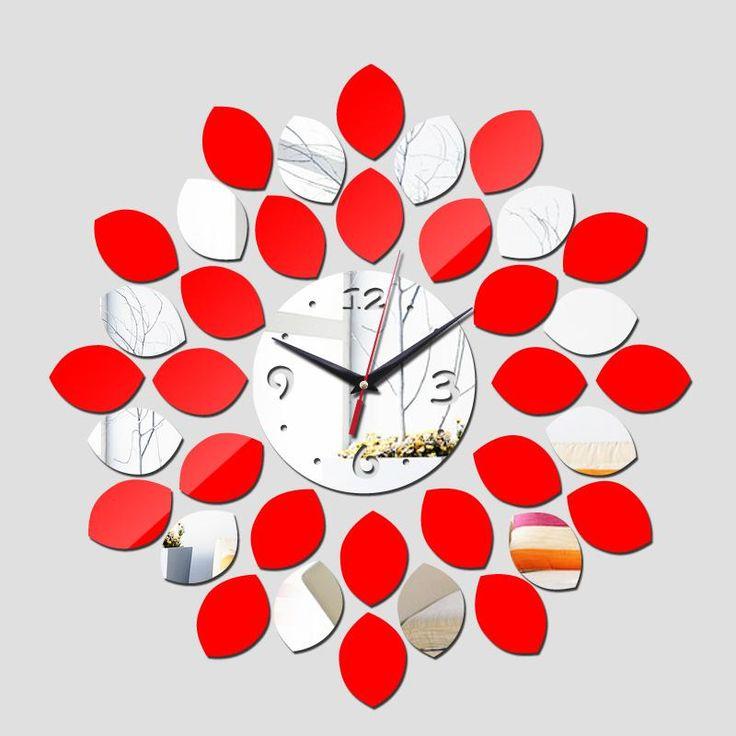 Wholesale 2016 Geometric Horloge Sale Top Fashion Quartz Needle 3d Wall Clock Home Decoration Diy Mirror. 1000  ideas about Bathroom Clocks on Pinterest   Purple nautical