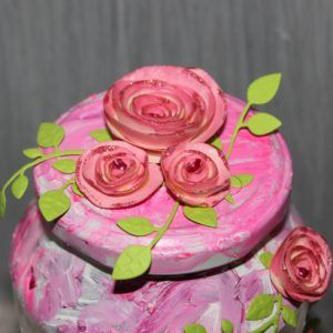 Homemade flowers of paper.