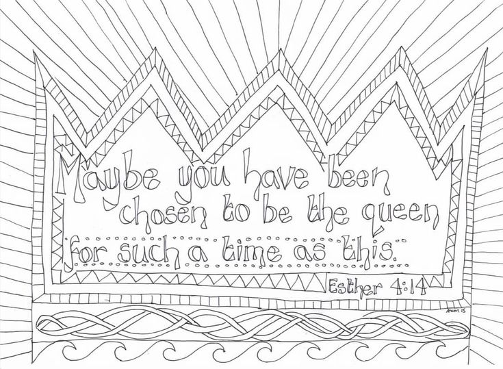 free christian coloring pages esther - photo#35