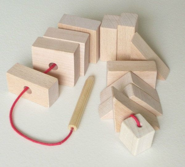 Large Wooden Lacing Blocks in Unfinished by LittleWoodlanders, £12.00