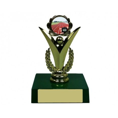 """Buy Online 1"""" Athletics Gold Holder, Apple Green Base is appropriate for displays for varsity Carnivals, Sporting Clubs or for a personal collaborating in associate degree athletics event. #sportstrophies #trophystore #trophy #online #buyonline"""