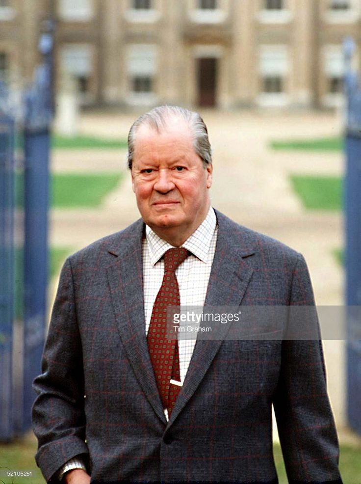 Earl Spencer Outside His Home, Althorp House, In Northamptonshire.