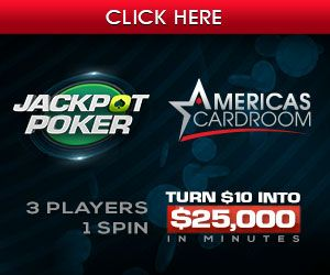 Get $50 in free tournament dollars with a deposit of at least $25 with Americas Cardroom, and earn up to 100% first deposit bonus up to $1,000. US Players Welcome!