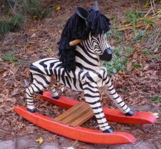 Rocking Horse Zebra :) I want to make something like this for Phoebe