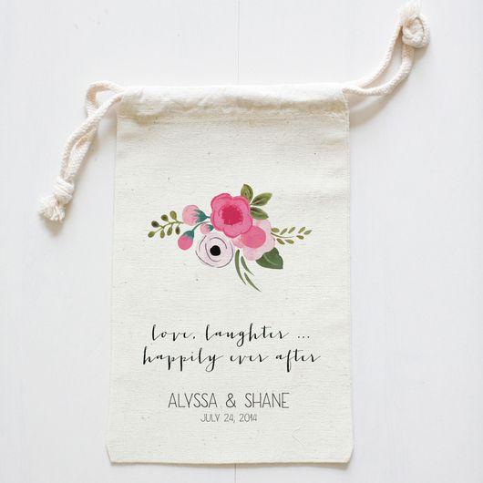 custom wedding favor bags | wedding chicks