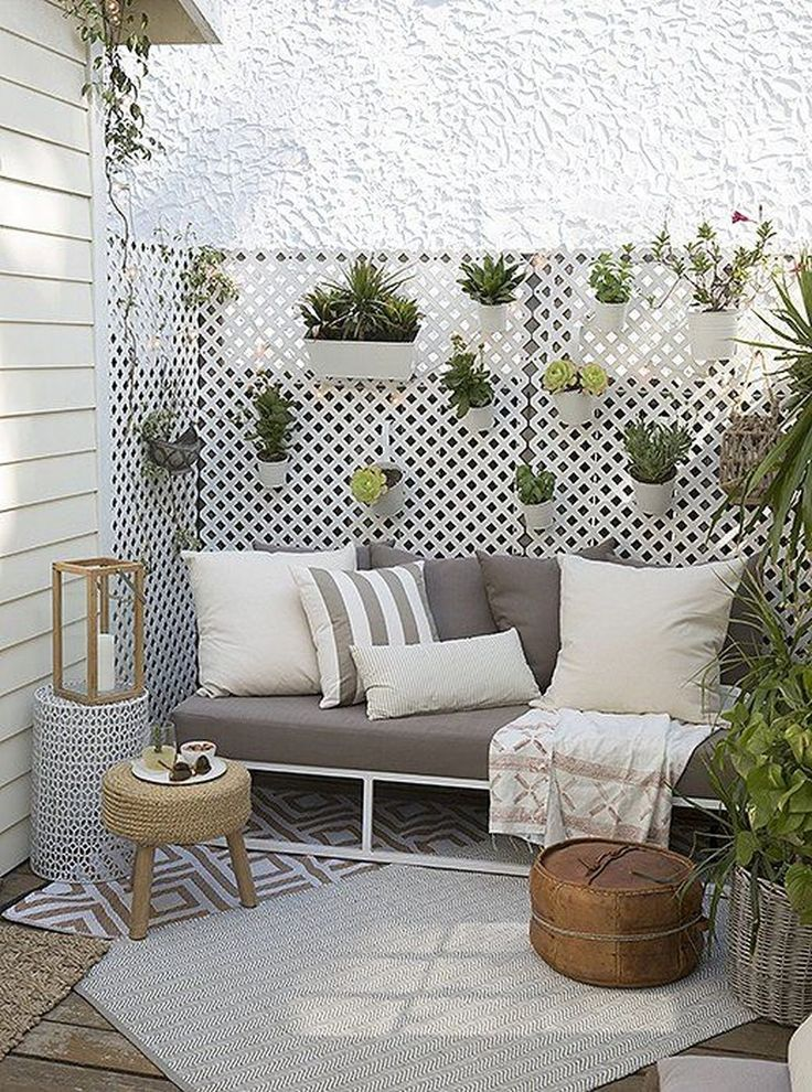 45 Fantastic Small Patio On Backyard Ideas   – Balkon