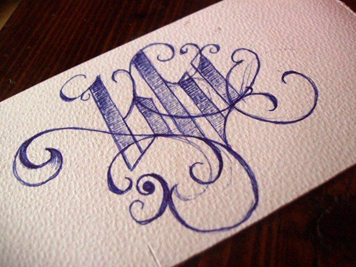 Blu #typo #calligraphy © Laura Silvestri