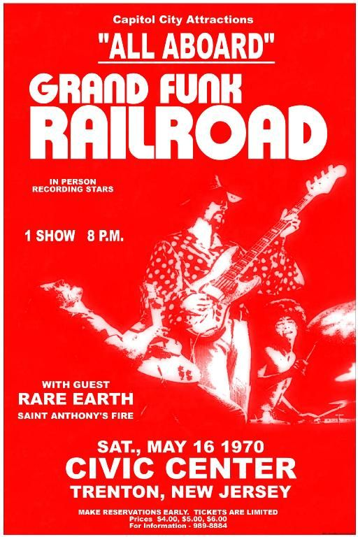 Grand Funk Railroad Concert Poster https://www.facebook.com/FromTheWaybackMachine