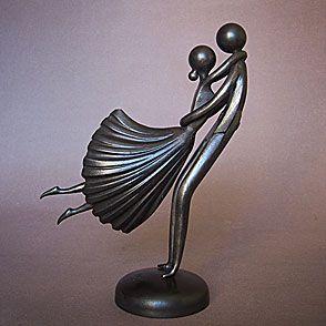 valse à mille temps sculpture de Jean-Pierre Augier..si poétique