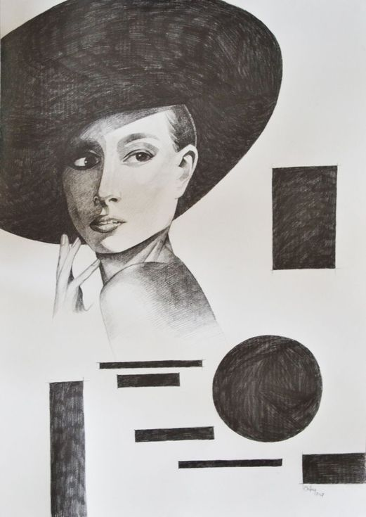 Buy WOMAN WITH BLACK HAT, Pencil drawing by Chifan Cătălin Alexandru on Artfinder. Discover thousands of other original paintings, prints, sculptures and photography from independent artists.