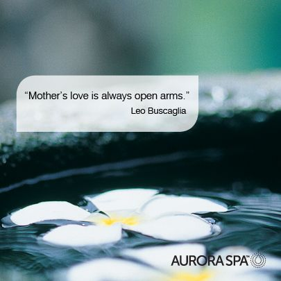 Mother's love is open arms. Beautiful