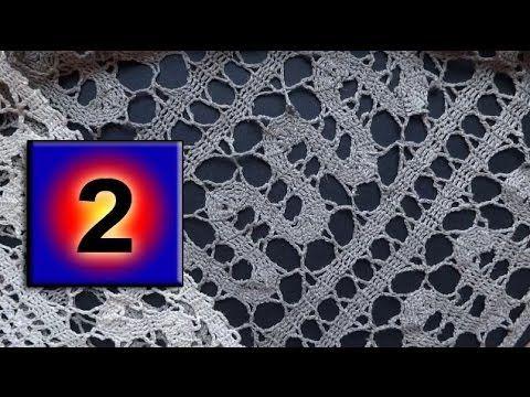 2- Bruges lace crochet Мастер класс Брюггское кружево вязание крючком урок - YouTube