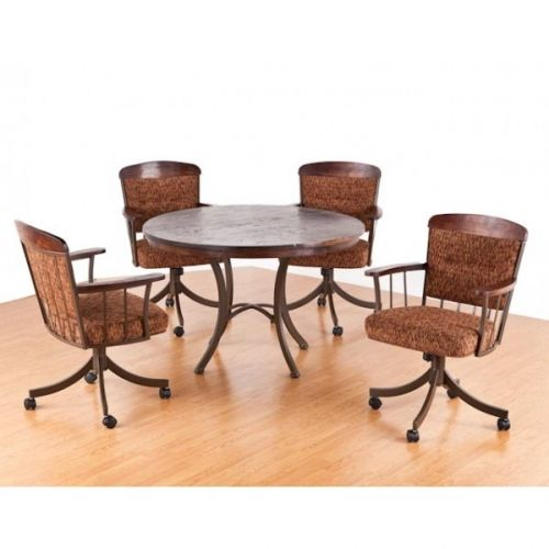 Get a rustic look for your dining area with the tempo for Looking for kitchen chairs