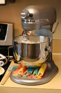 Use Otter Pops under your mixing bowl to cool down whipping cream or meringues. Genius idea!