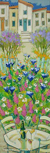 Claudette Castonguay, 'Un petit air de provence', 12'' x 36'' | Galerie d'art - Au P'tit Bonheur - Art Gallery