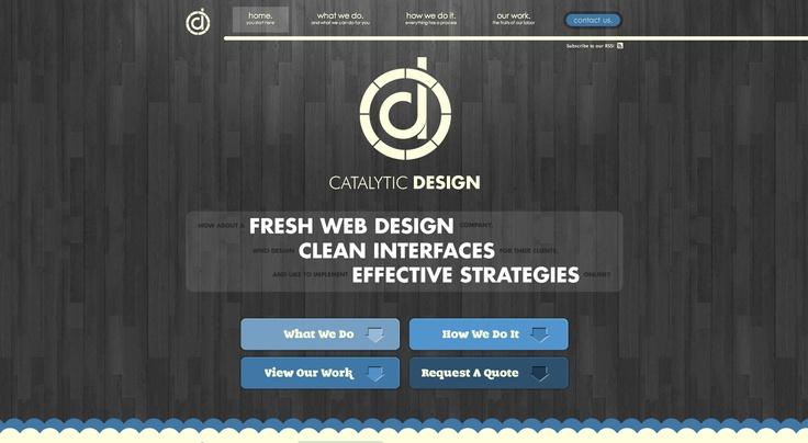 http://www.catalytic-design.com/ #website black & white #wood