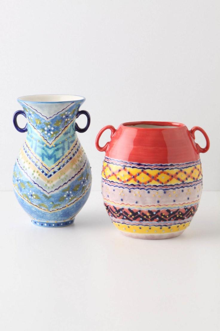 Anthropologie: Blue Rio, Beautiful Vases Just, Vase Anthropology, Color, Beautiful Vase Just, Anthro Vase, Vase Just 20, Pretty Vase, Rancho Vase