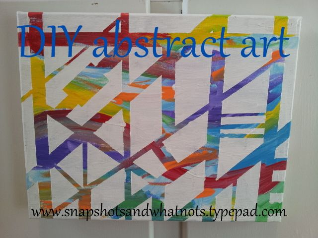 Crafts With Painters Tape And Paint