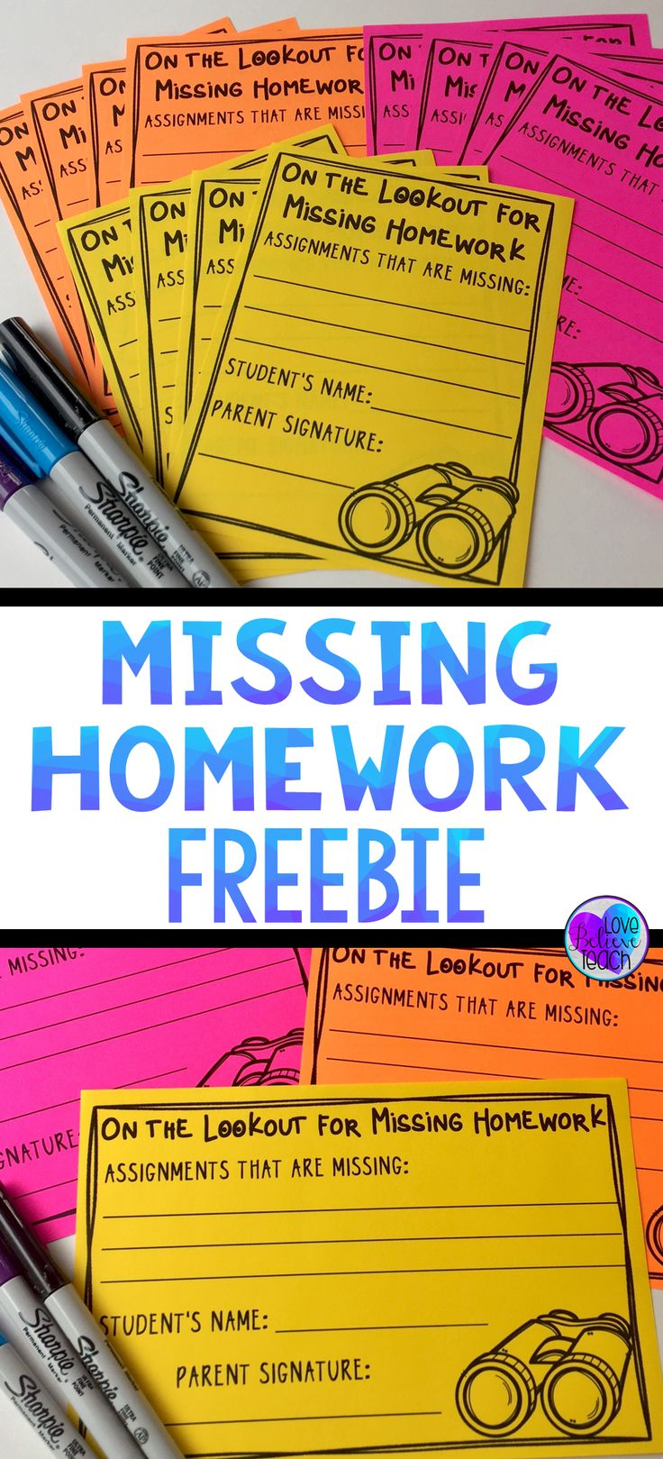 Missing homework is a common problem for many teachers. Here is a simple system that will hopefully make dealing with it easier. A quick slip to send home to parents and a tracking sheet is all you need.