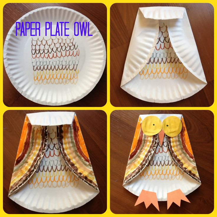 Fall Kids Craft: Paper Plate Owl