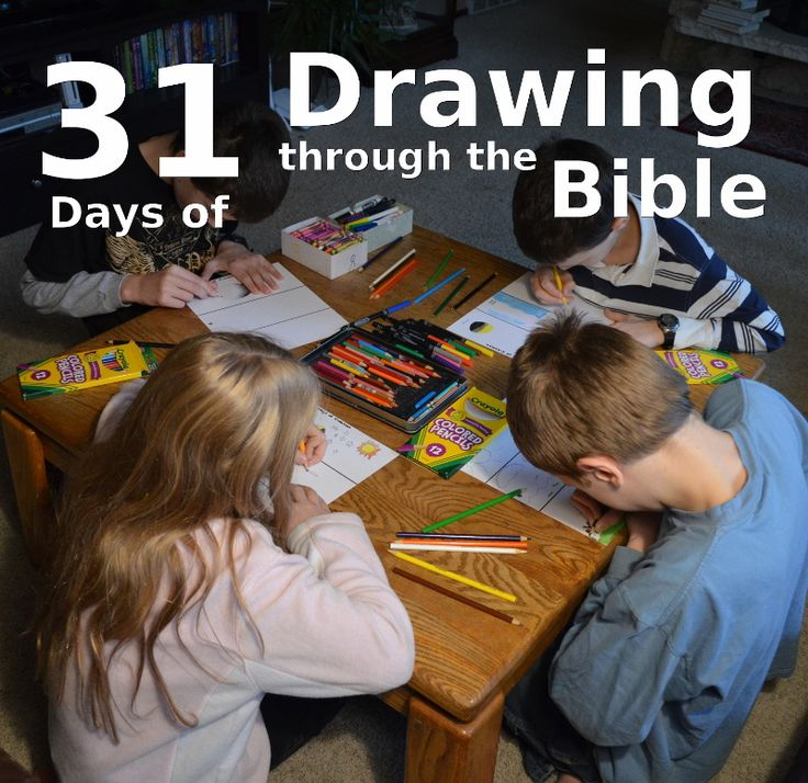 31 Days of Drawing through the Bible (many posts are full unit studies!) - http://susanevans.org/blog/31-days-drawing-through-the-bible/