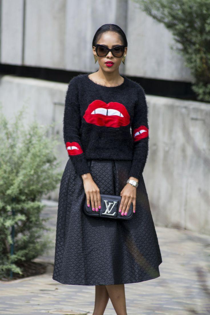 Fashionistas of South Africa - @kefiboo  --   Black riding hood