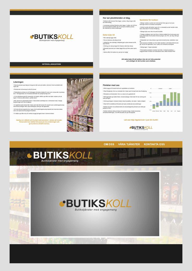 Butikskoll, uppstartning med grafisk profil, logotyp och diverse försäljningsmaterial. (2015)