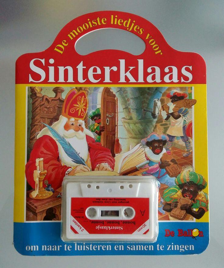 Sinterklaas boekje met een cassettebandje