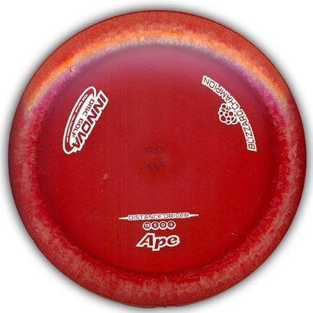 Blizzard Champion Ape 140-150g by Innova. $10.86. A fast long-range distance driver with great stability. Expect consistent and accurate flights from this disc. The Ape is great for powerful backhand and sidearm players. New Blizzard technology incorporates thousands of microbubbles into our durable Champion plastic. This results in high speed, premium plastic drivers in weights all the way down to 130 grams! Testing indicates that models under 140 grams are light enough to ...