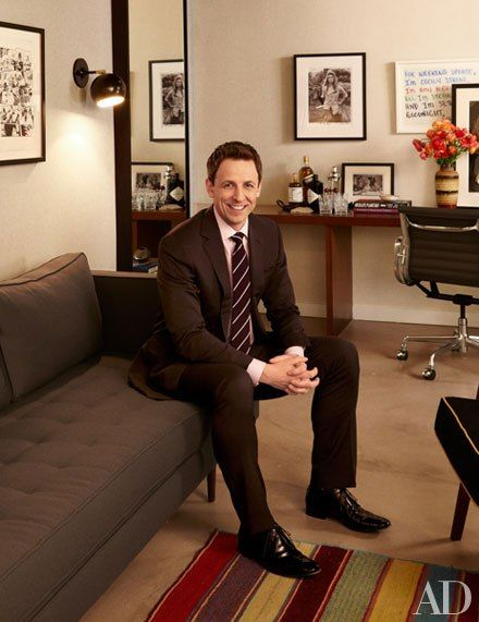 TOUR SETH MEYERS'S HANDSOME LATE NIGHT BACKSTAGE SPACES