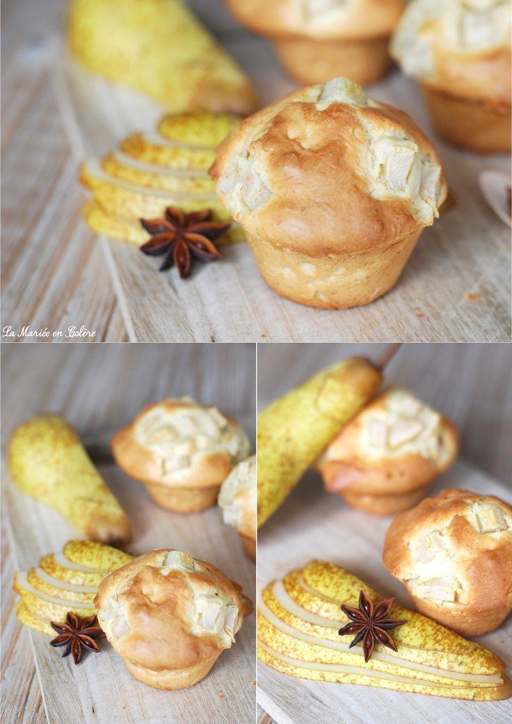Muffin à la poire, recette, recette facile