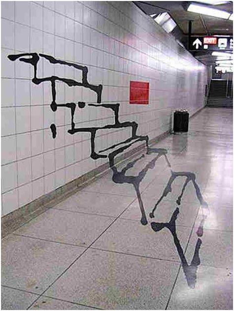 Subway Illusion Graffiti in Toronto