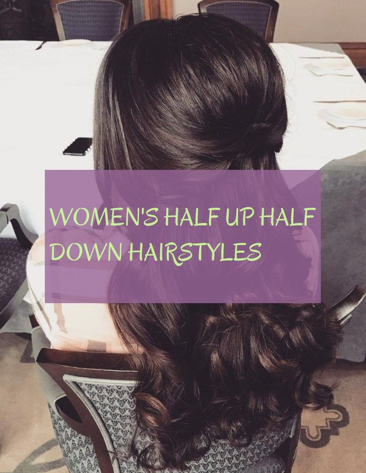 Women's Half Up Hairstyles Women Hairstyles Women Half High Half Down Hairstyles #Womens #half #half #down #hairstyles