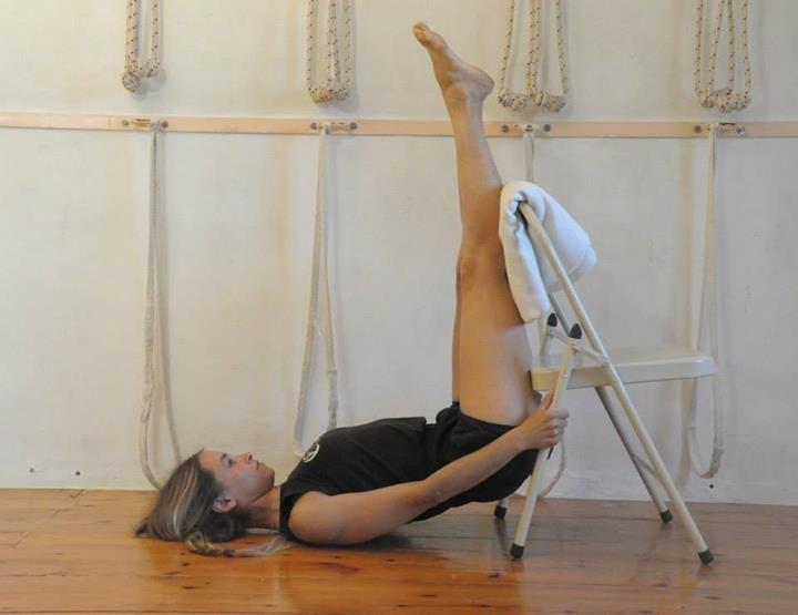 urdhva prasarita padasana iyengar yoga chair abdominal