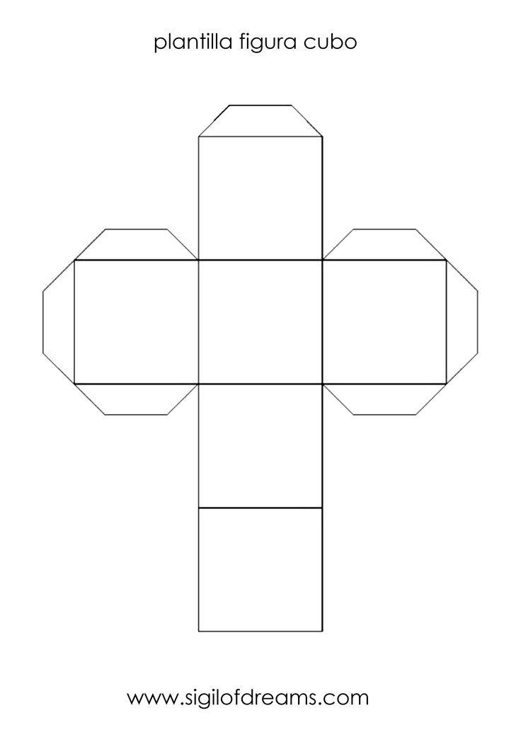 Plantilla par imprimir y crear un cubo en papel o