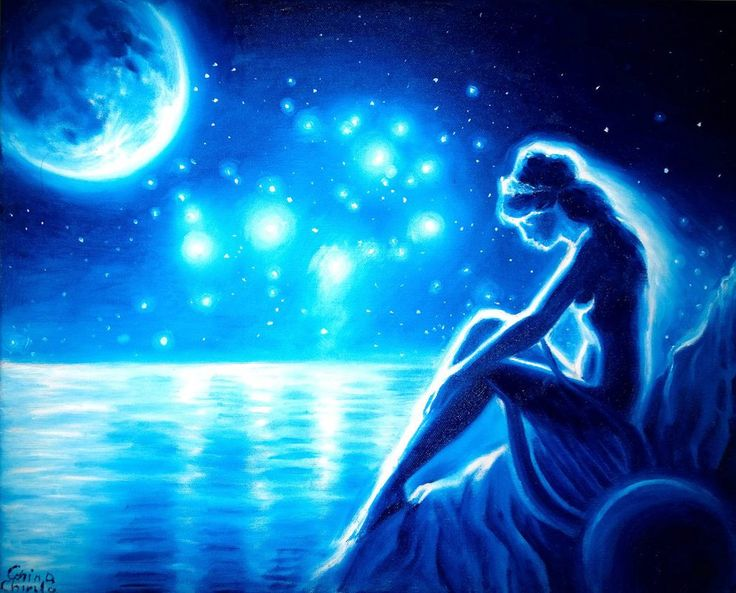 Sappho the moon and the Pleiades by CORinAZONe.deviantart.com on @DeviantArt
