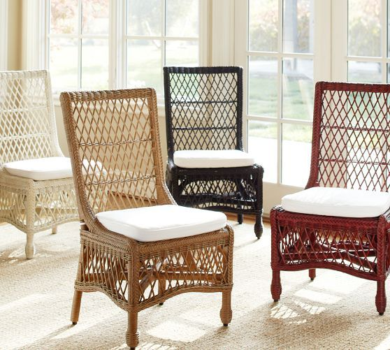 Wicker Dining Room Chairs: Delaney Rattan Dining Chair