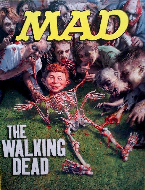 Alfred E. Neuman spoofs The Walking Dead