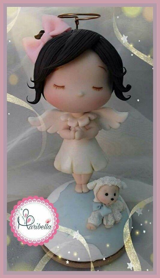 Angelita en porcelana fria #religioso #Ángel #porcelanafria #pastafrancesa #ternurita #maribella