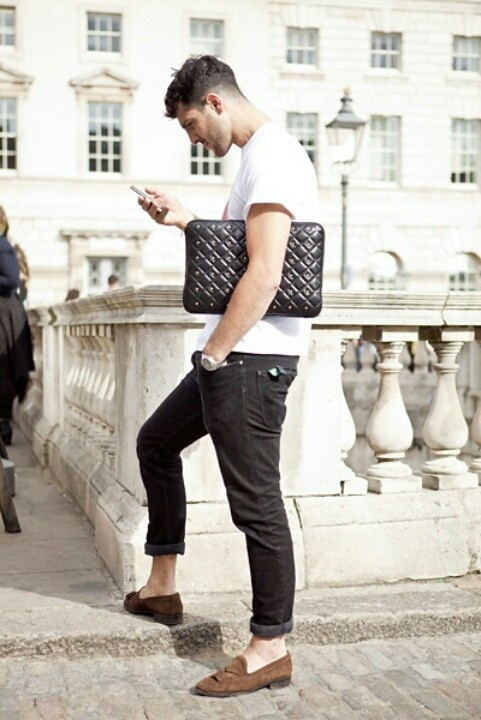 Keeping it simple..: Loafers, Men Accessories, Men Style, Street Style, Menstyle, Men Bags, Men Fashion, Black Jeans, Stylish Men