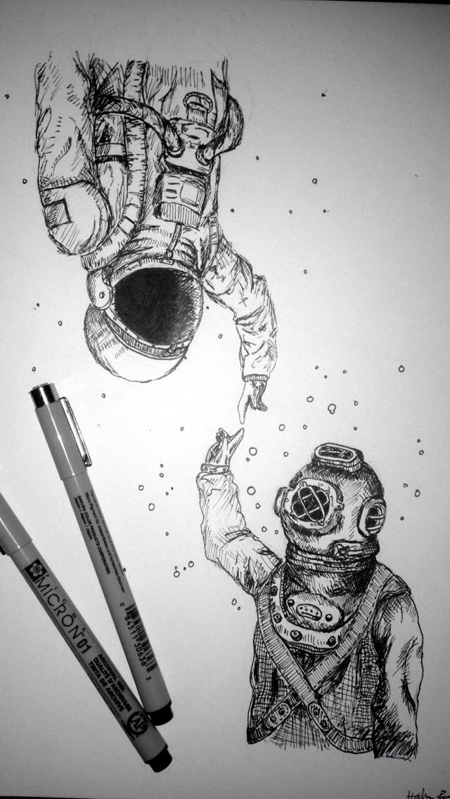detailed drawings of astronauts - photo #23