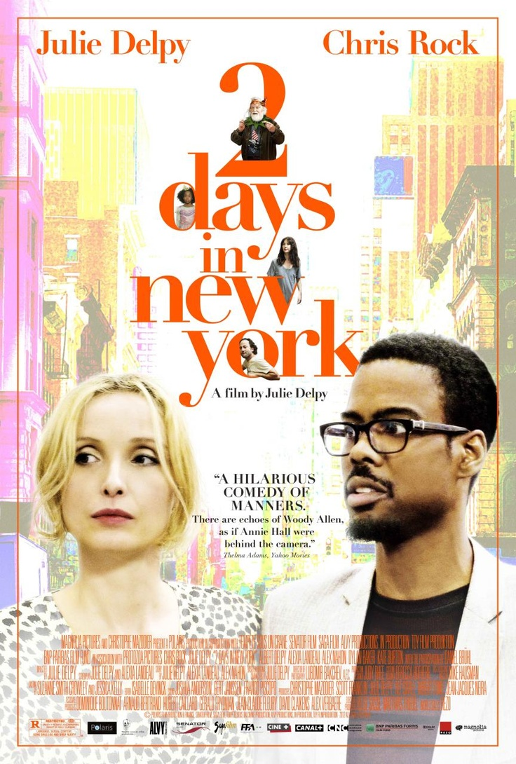 2 DAYS IN NEW YORK  Comedy, Rated MA 15+, 91 Minutes  Starring: Julie Delpy, Chris Rock, Dylan Baker, Albert Delpy, Alexia Landeau.  Available 22 March – Outdoor from 22 May 2013.