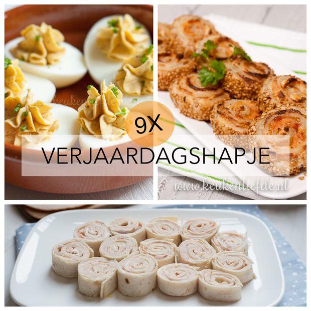 Ik krijg het gebrek ervan: de typisch Hollandse kringverjaardag. Maar gelukkig zijn er verjaardagshapjes! Dit zijn mijn favoriete recepten.
