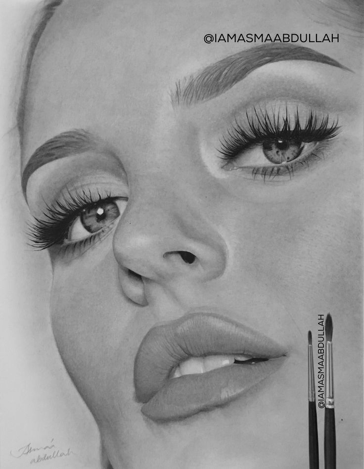 Portrait of chloe morello in progress. watch the process of this charcoal drawing on my insta & twitter! @iamasmaabdullah #art #artists #photorealism #hyperrealism #portraits #pencils #mua #charcoal #drawing