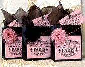 shabby chic party bags for babyshowers, hen do's and girls birthday parties. www.partieinabox.co.uk