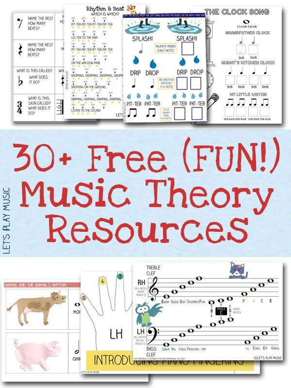 A huge collection of fun free music theory resources and worksheets for preschoolers and primary school / kindergarten age. These would be perfect for homeschool too.