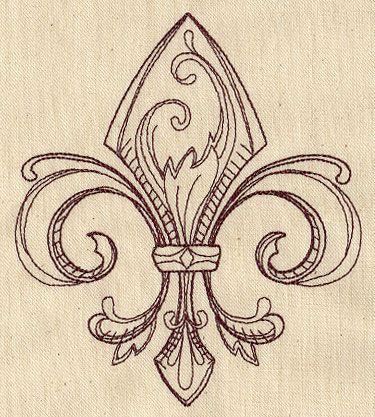 Vintage Fleur de Lis | Urban Threads: Unique and Awesome Embroidery Designs                                                                                                                                                                                 Mais