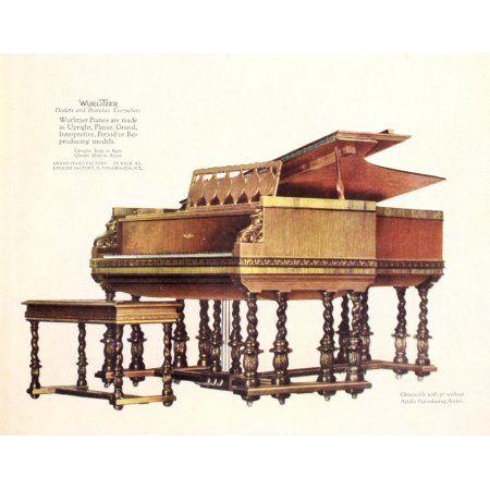 House & Garden 50 1926 Wurlitzer Pianos Canvas Art - Unknown (18 x 24)