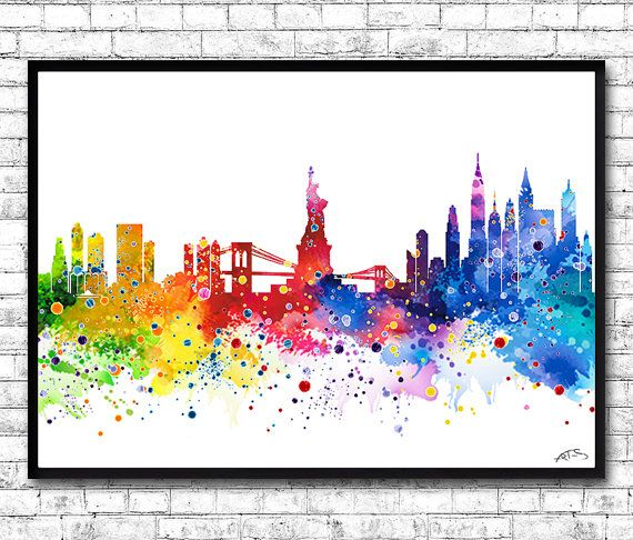 Watercolor New York: 17 Best Ideas About Watercolor City On Pinterest